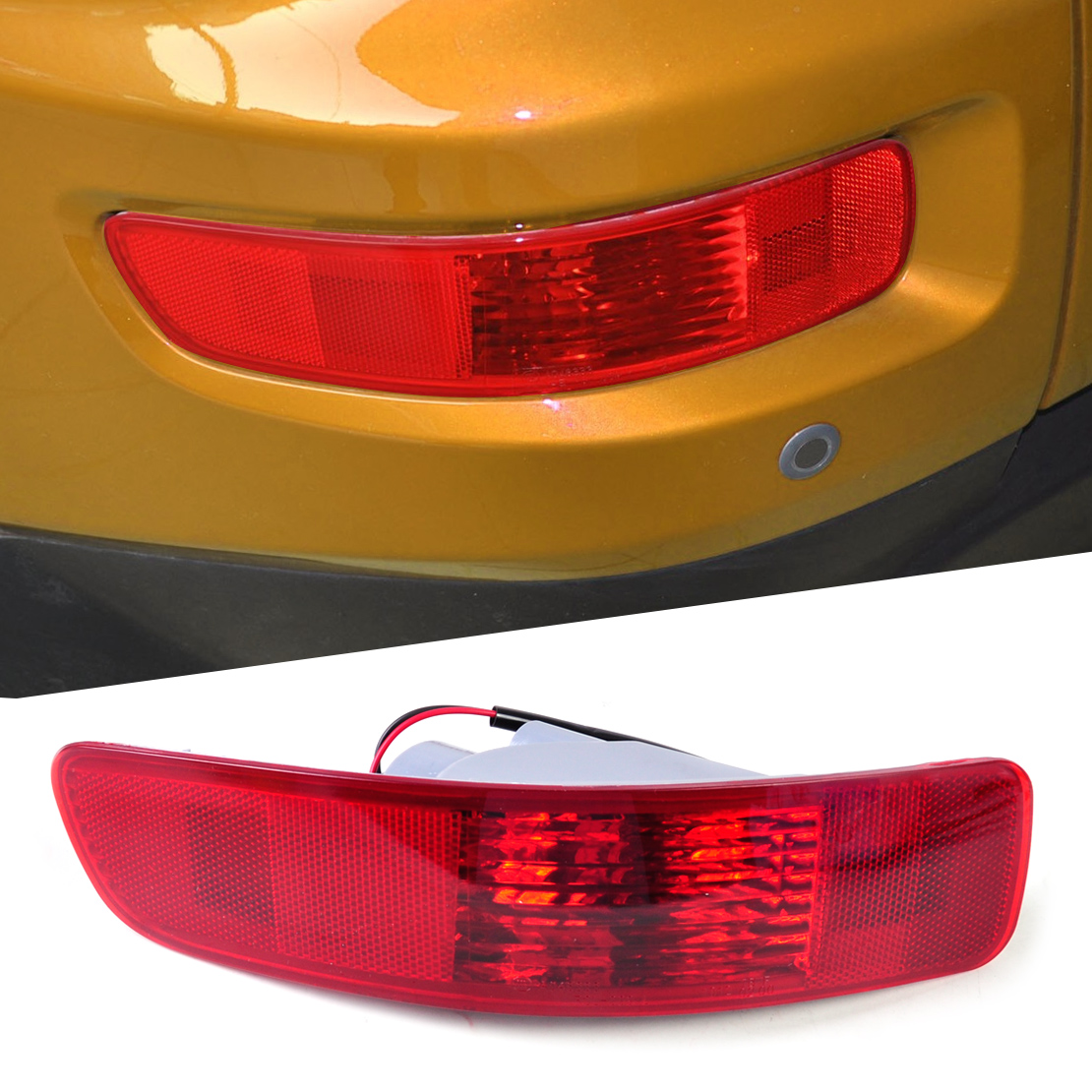 DWCX SL693-LH SL693 Rear Fog Lamp Light Left Side for Mitsubishi Outlander 2007 2008 2009 2010 2011 2012 2013 car modification lamp fog lamps safety light h11 12v 55w suitable for mitsubishi triton l200 2009 2010 2011 2012 on