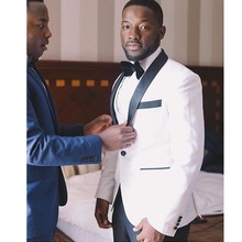 White Groom Tuxedo Mens Wedding Suits Grooms Men Suits 2019 Slim Fit 2 Pieces Wedding Tuxedo for Men Jacket+Pants