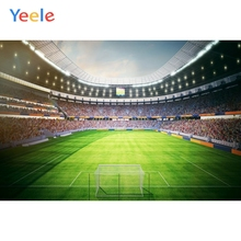 Yeele Football Field Stadium Stand Photography Backdrops Sports Customized Poster Photographic Backgrounds For Photo Studio Kids outdoor inflatable soapy stadium football field water soap football game