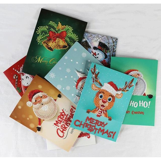 8pcslot diamond painting christmas cards kits 5d diy greeting cards - Where To Buy Christmas Cards