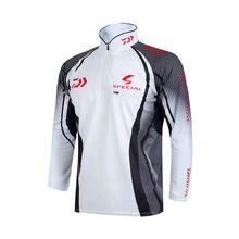 2018 New style Daiwa Fishing Clothing Vests Quick-Drying Anti-UV Sun Daiwa Jacket Sports Clothes Long Sleeve D
