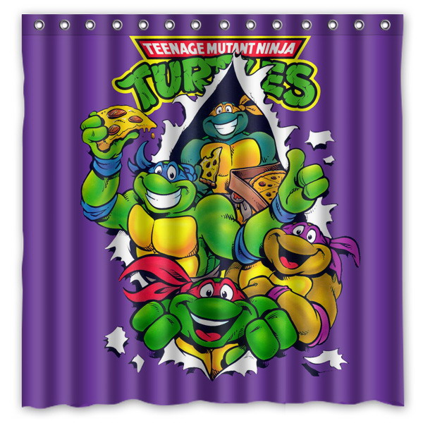 Online Shop Bathroom Products Teenage Mutant Ninja Turtles Printed Polyester Fabric Shower Curtains Waterproof Washable Curtain 180X180CM