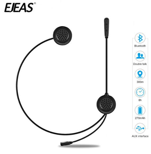 EJEAS Helmet Headset Motorcycle Intercom Bluetooth Interphone Wireless Headset Radio Interphone Moto Intercom 300m For 2 Rider in Helmet Headsets from Automobiles Motorcycles