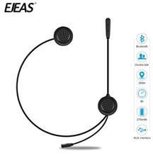 EJEAS Helmet Headset Motorcycle Intercom Bluetooth Interphone Wireless Headset Radio Interphone Moto Intercom 300m For 2 Rider недорого