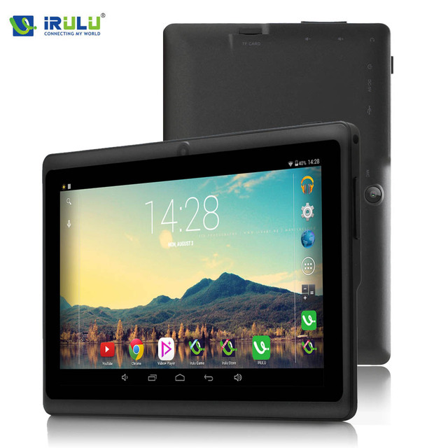 iRULU eXpro X1 7 » Tablet Allwinner Quad Core Android 4.4 Tablet 8G/16G ROM Dual Cameras multi color support WiFi OTG HOT Seller