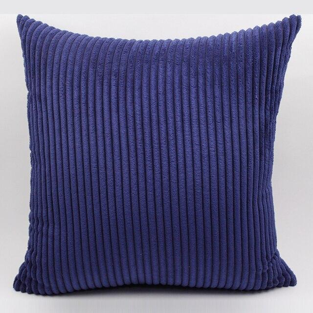 Striped Corduroy Fabric Sofa Cushion  Cover,40x40cm/45x45cm/50x50cm/55x55cm/60x60cm