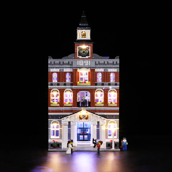 Led Light Set For Lego 10224 Creators City The town hall Compatible 15003 Building Blocks Bricks Toys (only light+Battery box)