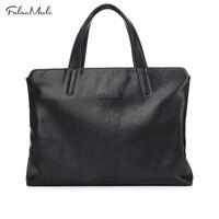 New Luxury Genuine Leather Bag Men Messenger Bags Handbag Briefcase Business Men Shoulder Bag Quality 2017