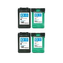 4 шт. для hp 140 141 картридж для hp140 141 xl Photosmart C4483 C4583 C4283 C5283 D5363 Deskjet D4263 D4363 Принтер