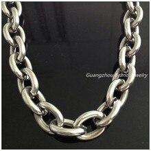 """""""-40"""" Огромный тяжелый 316L нержавеющая сталь серебро большой O звено цепи для мужчин мальчик ожерелье высокое качество 14 мм не блекнет ювелирные изделия крутые"""