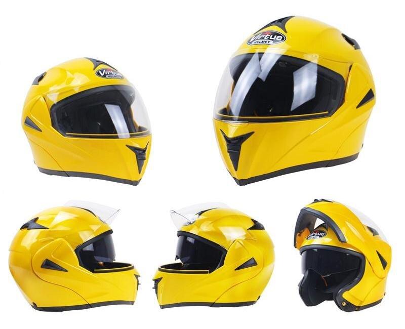 dot new Everyone Affordable Motorcycle helmet flip up helmet modular helmet racing helmet Doule visor