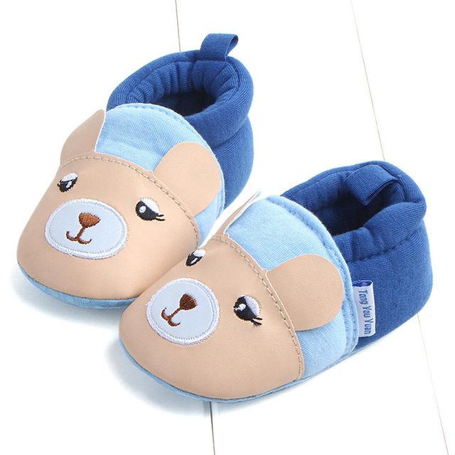 2018 Brand New Toddler Newborn Baby Boys Girls Animal Crib Shoes Infant Cartoon Soft Sole Non-slip Cute Warm Animal Baby Shoes