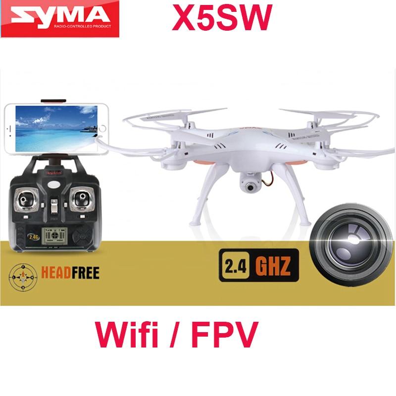 100 Original SYMA X5SW WIFI RC font b Drone b font fpv Quadcopter with HD Camera