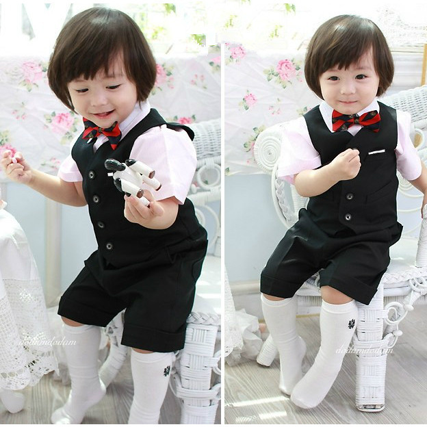Us 36 0 Cute Boys Wedding Suits Boy Blazer Formal Dress Children Clothes Costume Baby Boy Wedding Outfit De Mariage Pour Enfant Garcon In Suits From