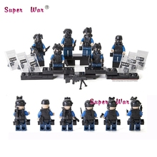 98507 6pcs Combat Military Camouflage Barrier Gun Battle shield Army building blocks model bricks toys for
