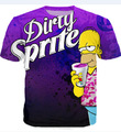 Newest Dirty Sprite 3D T-Shirt Purple Drank PROMETHAZINE CODEINE Lean T Shirt Women Men Summer Style Tees Tops Tees Hip Hop
