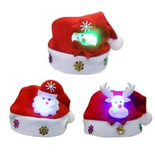 Рождественские украшения Санта снеговик олень детский светодиодный флэш-колпачок легкие шляпы подарок