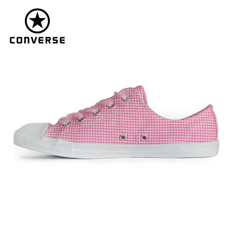 купить NEW CONVERSE All Star shoes women CONVERSE Pink Ribbon lightweight low sneakers Skateboarding Shoes 560832C по цене 4164.35 рублей