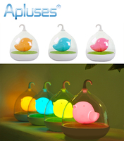 Creative Lovely Birdcage LED Rechargeable Touch Dimmer Night Light