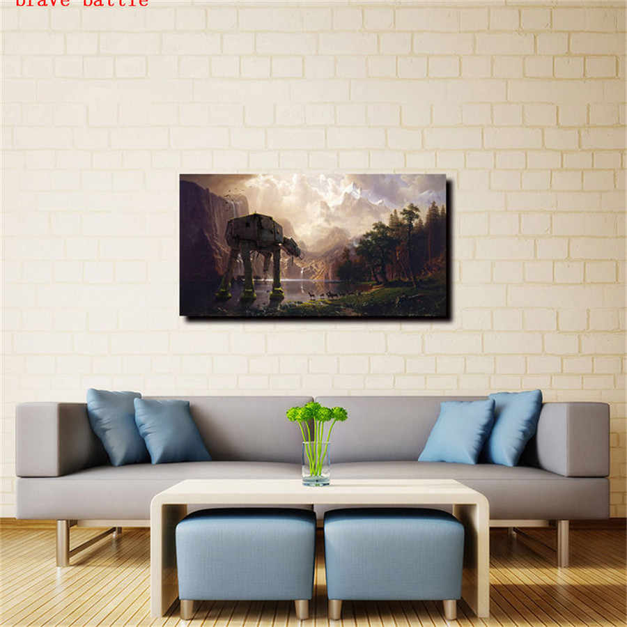 スターウォーズatat、一つシエラネバダキャンバス絵画プリントリビングルーム家の装飾現代壁アート油絵ポスター
