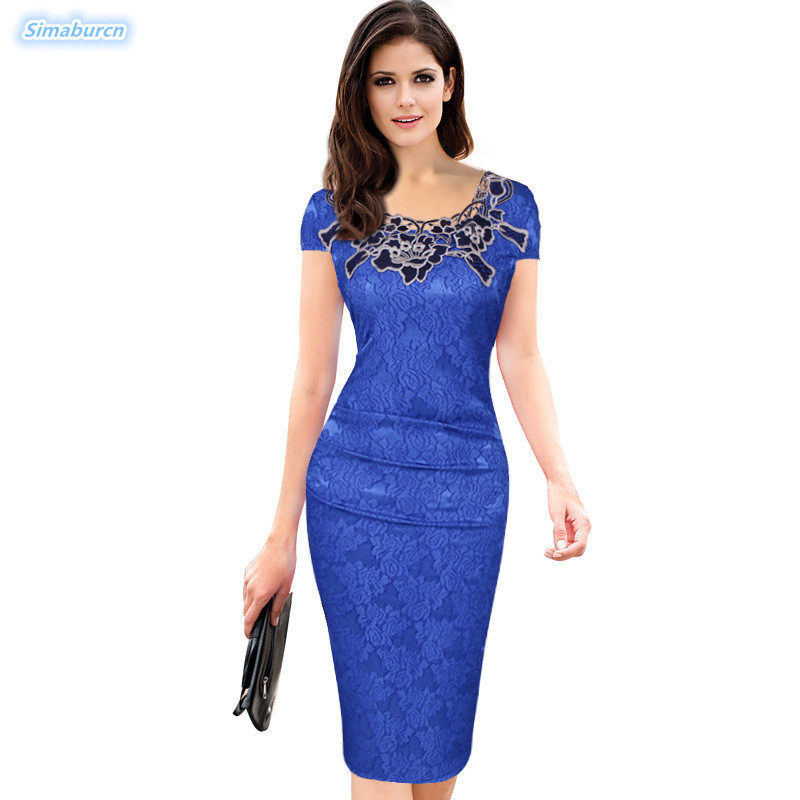 3XL Plus Size Embroidery Party Solid Color Dress Women Short Sleeve Casual Ladies Spring Autumn Pencil Christmas Dresses Female