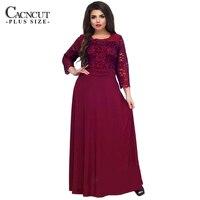 5XL 6XL New Lace Patchwork Maxi Dress Long Plus Size Vintage Ladies Evening Party Dresses Large