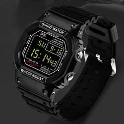 1 шт. военные водостойкие мужские ЖК-цифровые секундомеры Дата Резиновые Спортивные Наручные Часы
