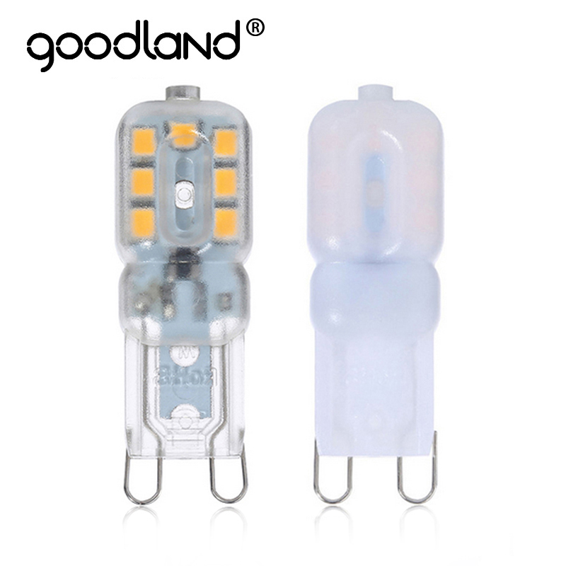 Goodland Mini G9 LED Lamp 5W 220V 240V Bombillas LED G9 Bulb LED Light Lampadas SMD 2835 Crystal Chandelier Replace Halogen Lamp