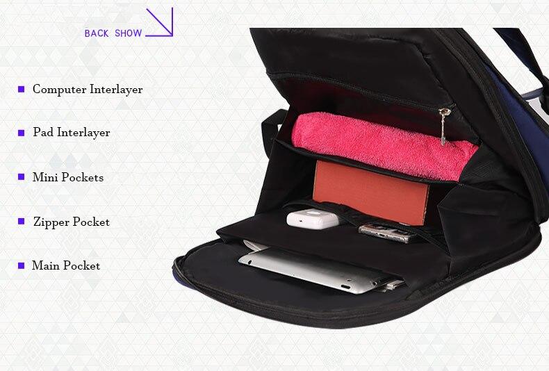 Prop Escudo 17 Polegada Computador Ombro Saco de Viagem Schoolbag