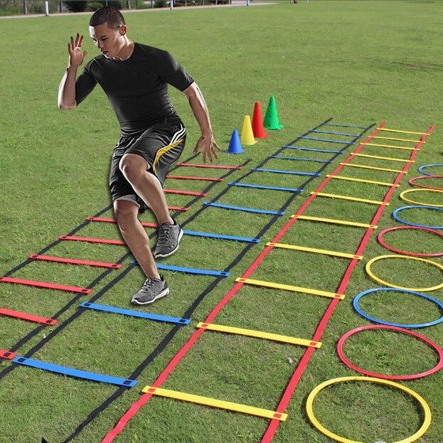 9 flat rung el ritmo de entrenamiento de fútbol energía