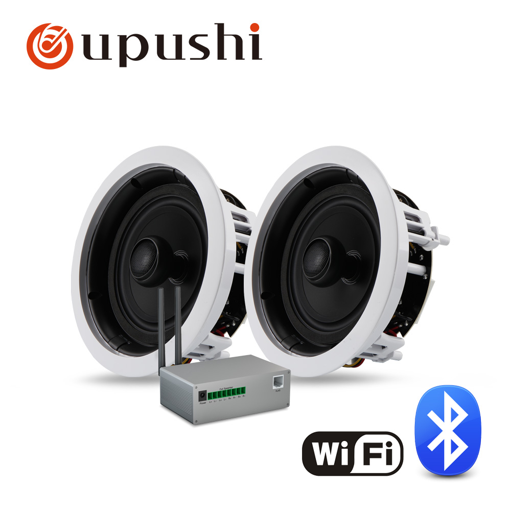 In wall surround speakers 6 5 inch ceiling speakers system coaxial wifi speaker with mini wifi