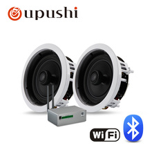 In wall surround speakers 6.5 inch ceiling speakers system coaxial wifi speaker with mini wifi amplifier wifi box for home music
