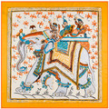 100cm*100cm Twill Silk Women 100% Silk Square Tailand National Wind Elephant Printed High Quality Scarf 6134