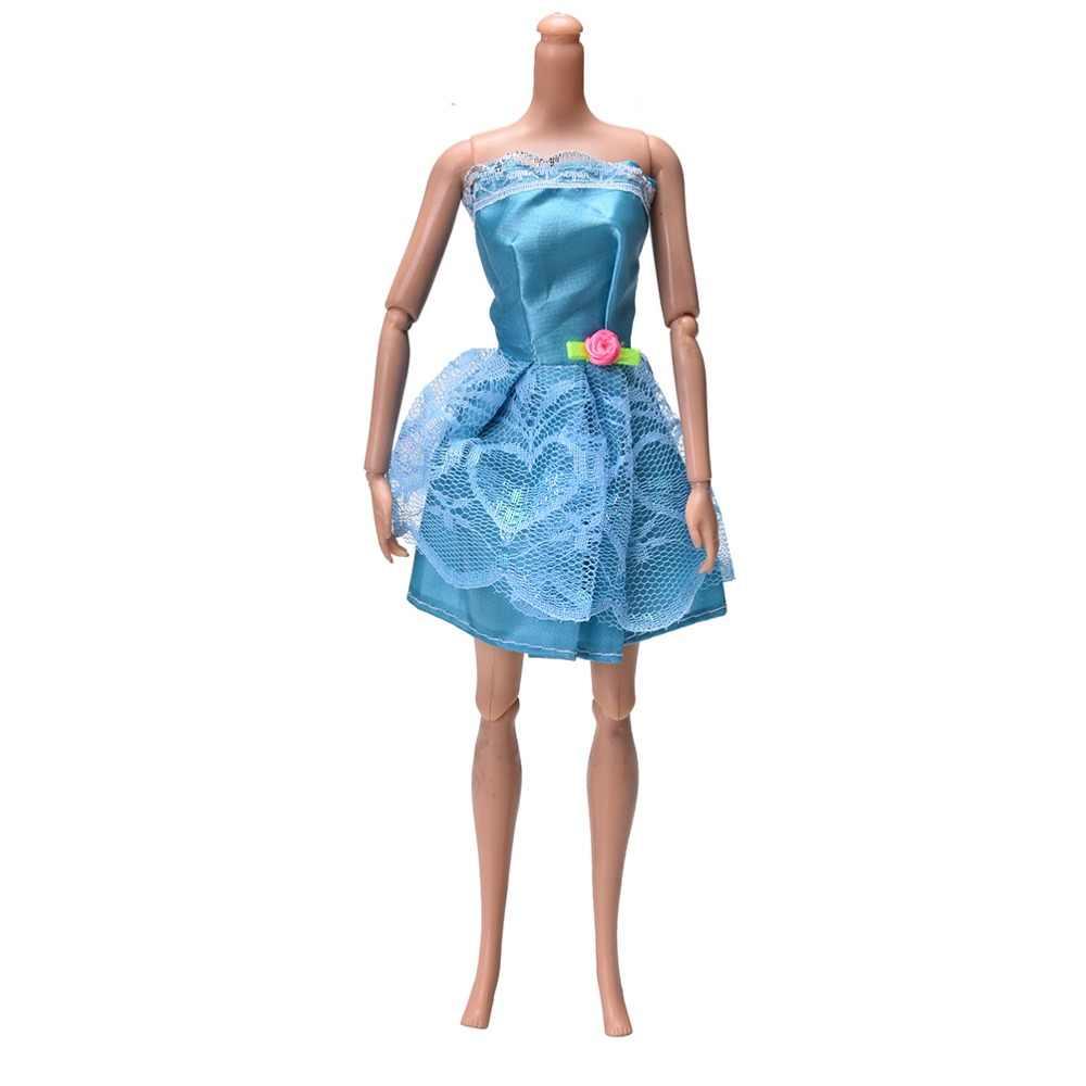 Новинка 2018 шт. г. 1 шт. куклы Подарки для детей игрушечные лошадки Красивая вечерние Вечеринка ручной работы Мини модное платье одежда