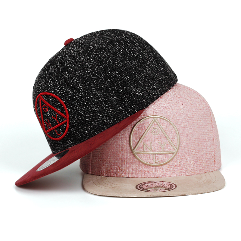 Snapback Cap Baseball-Cap Hip-Hop-Cap Youth Round Triangle NY Brand Embroidery Girls