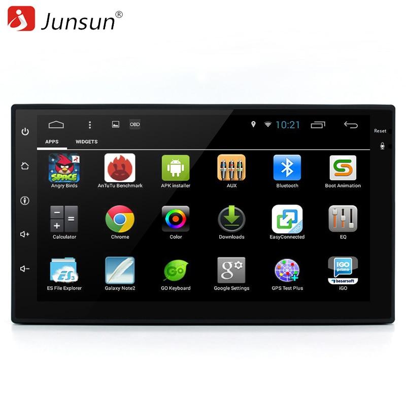 """imágenes para Junsun 7 """"2 din android 6.0 coches Reproductor de DVD de Radio Estéreo de vídeo 1024*600 Universale Autoradio gps dvd multimedia para vw/kia rio"""