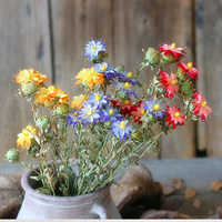 3 Pieces A Bunch Tansy Flower Natural Dried Plant 50 60 Length Handmade Plant Home Decoration