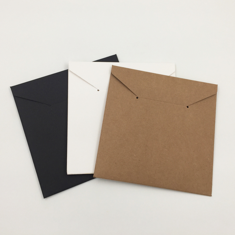 FREE SHIPPING 20 PCs Cardboard CD DVD Media Disc Gift Paper Sleeves Packaging Envelope Cover Case Holder Kraft Paper