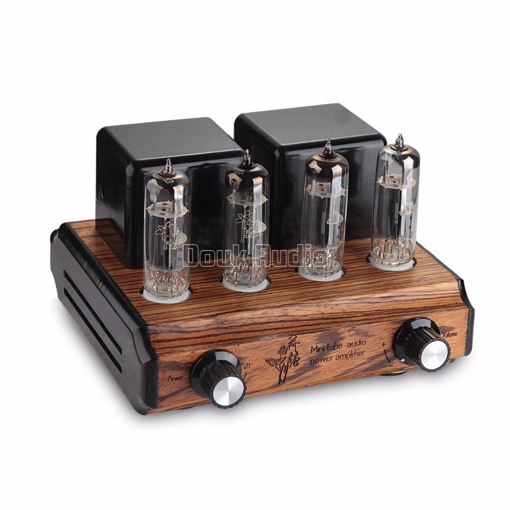 Douk Audio Mini Pure handmade 6F3 Vacuum&Valve Tube Amplifier Push-pull Stereo Class A Power Amp 6W*2 appj pa0901a 12ax7b el84 mini stereo tube amplifier hifi desktop valve audio amp black 1pc