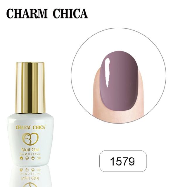 CHARM CHICA Nail Gel Polish 6ml Blue Serises Colors Gel