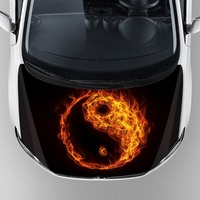 waterproof car decals custom graphic mini cooper sticker hood bonnet decoration vinyl sticker with removable self adhesive