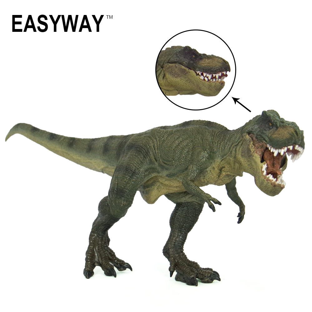PVC Dinosaurs Toy Model T-Rex Figure Tyrannosaurus Rex Toy Plastic Animal Figures PVC T.Rex Model Animal DIY PVC Action Jurassic jurassic monster action tyrannosaurus rex can use electric to lay an egg with light simulation model children s toy