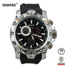 Shhors Brand Mens Watches Military Watch Men Big Dial Quartz Watches Zinc Alloy Case reloj hombre erkek saat
