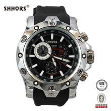 Shhors Brand Mens Watches Military Watch Men Big Dial Quartz Watches Zinc Alloy Case reloj hombre erkek saat