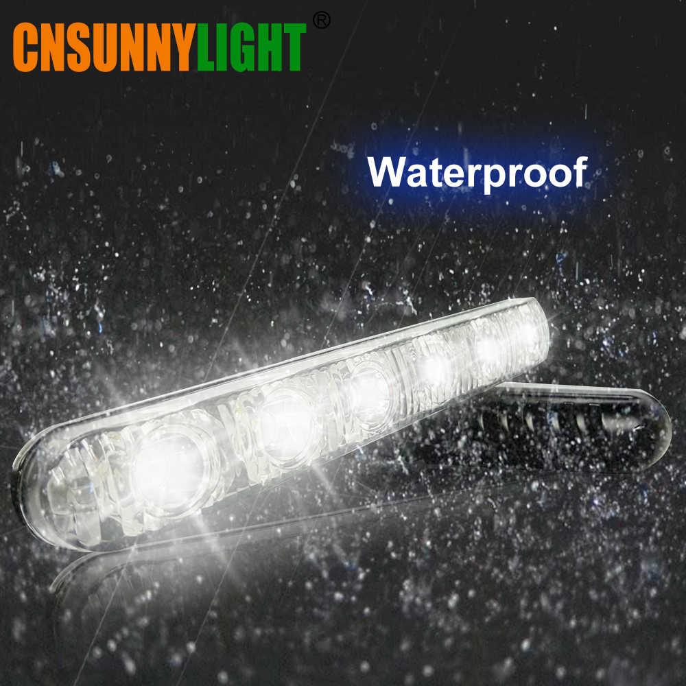 CNSUNNYLIGHT 6 LEDs Daytime Running Light Waterproof Universal DRL Kit Led Auto Driving Work Light External Fog Lamp 6000K 12V