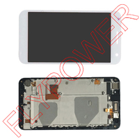 For Huawei Ascend G7 LCD Display Screen With Touch Digitizer With Frame Assembly White By Free