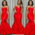 Honey qiao 2017 más nuevo atractivo de la sirena de baile vestidos de novia de talla grande rojo africano barato prom vestidos de fiesta largo vestidos de noche