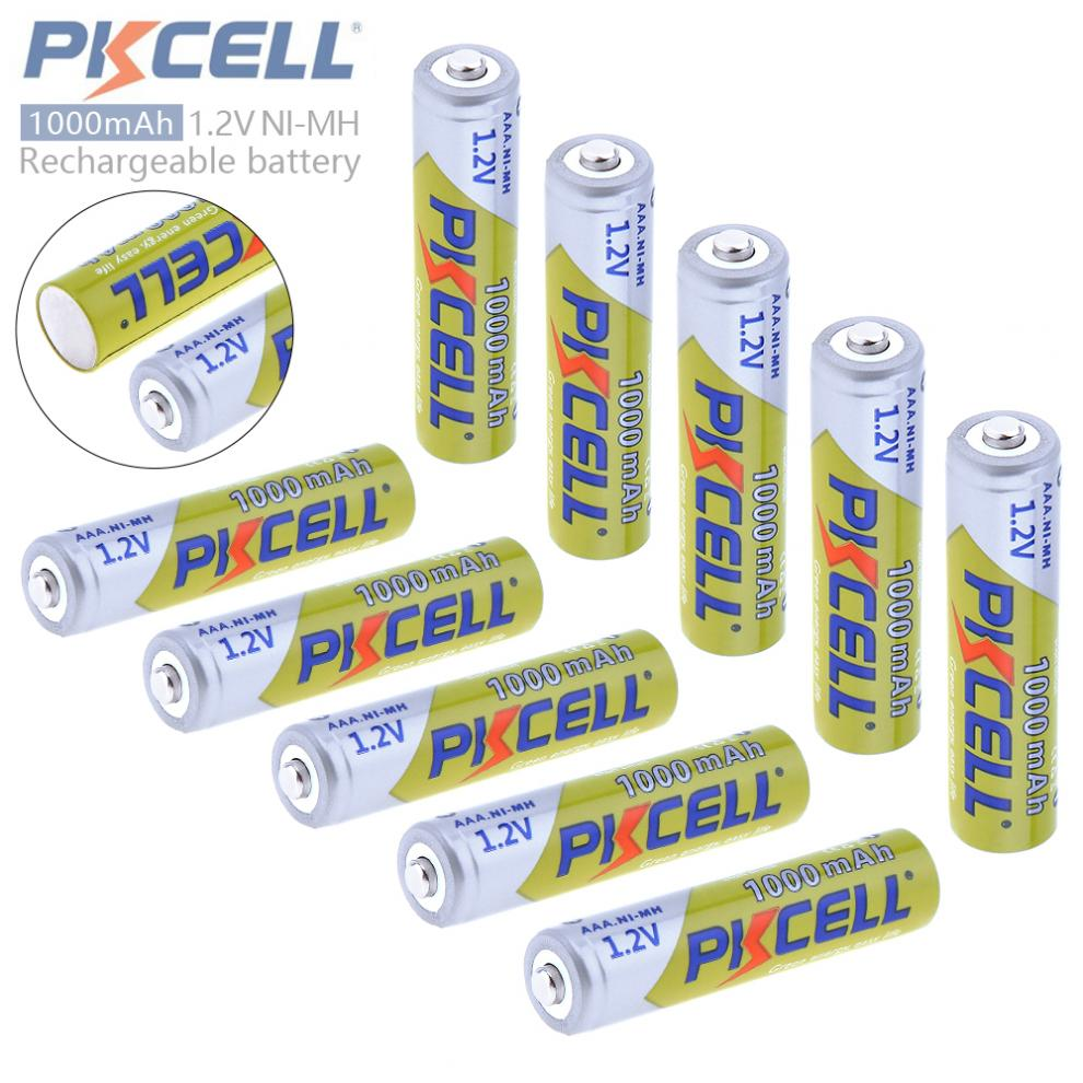 10Pieces*PKCELL 1.2v AAA 3A NIMH 1000mah AAA Battery Rechargeable aaa Batteria ni-mh batteries battery rechargeable ...