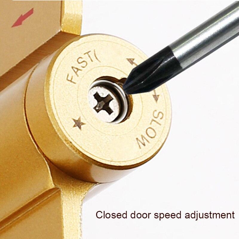 Nouvellement 1 pièces charnières de porte en alliage de Zinc hydraulique charnières amortisseur tampon épaissir meubles armoire charnière XSD88