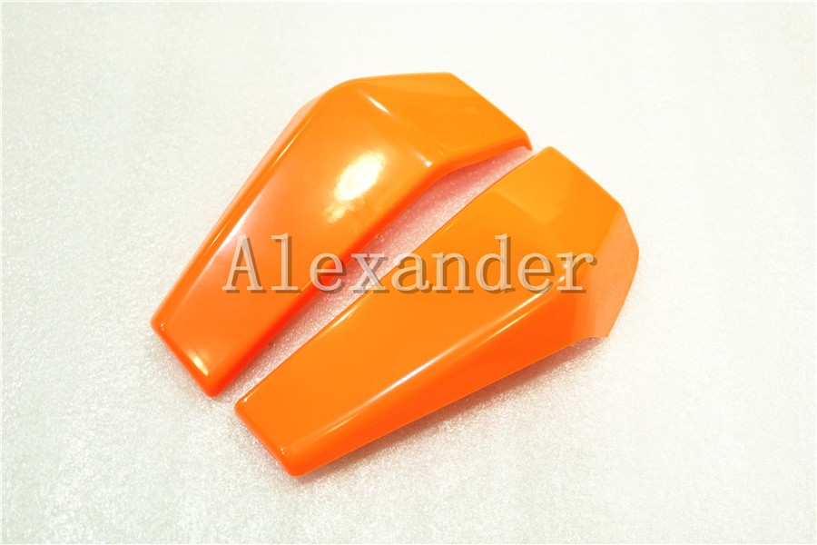 Orange Plastic Motorcycle Radiator Side Cover Guard Protector Pelon For KTM DUKE 125 200 390 2012 2013 2014 2015 2016 KTM390 image